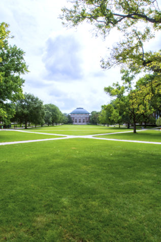 The Main Quad at the University of Illinois.