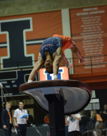 Illinois men's gymnastics' Eggleston sits out, win streaks end