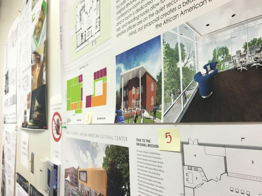 There are currently five proposed building plans on display at the Bruce D. Nesbitt African-American Cultural Center. Ideas for new features range from libraries to a radio station.