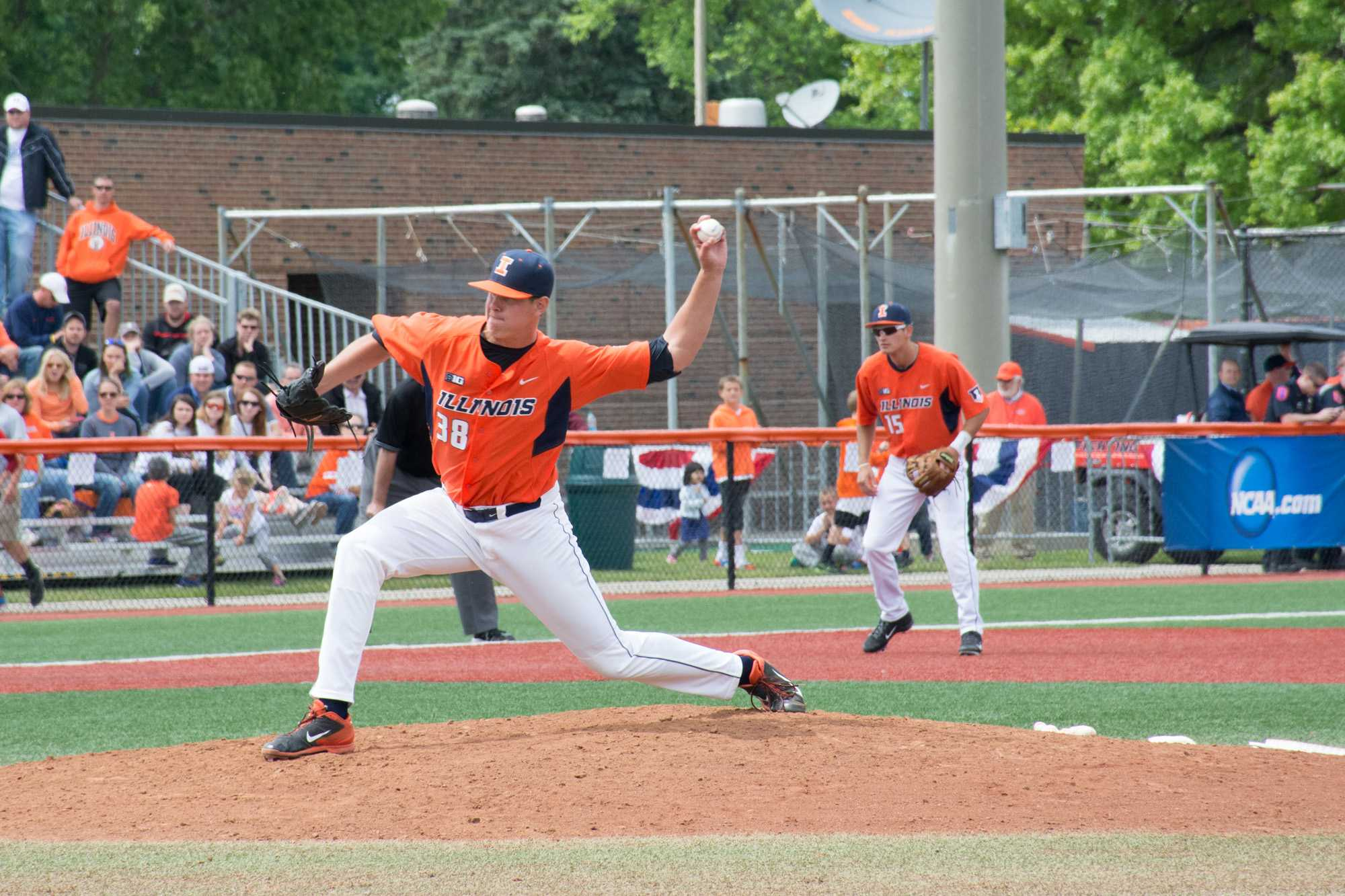 Illini pitcher J.D. Nielsen during Illinois' victory over Wright State at Illinois field on June 1.