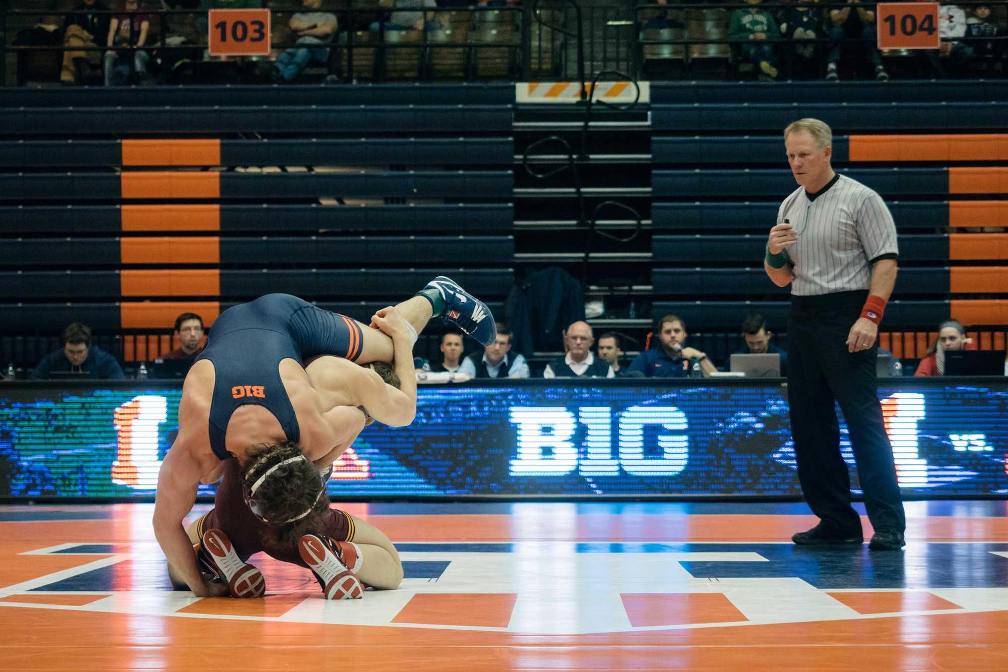 Illinois+wrestler+Zane+Richards+looks+to+add+a+Big+Ten+Championship+to+his+resume.