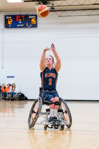 Illinois' Gail Gaeng takes a free throw during the game against Alabama at the Activities and Recreation Center on February 12. The Illini won 56-47.