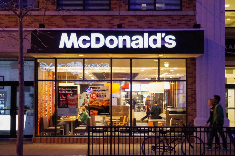 Front of McDonald's on Green Street on Sunday, Feb. 28, 2016.