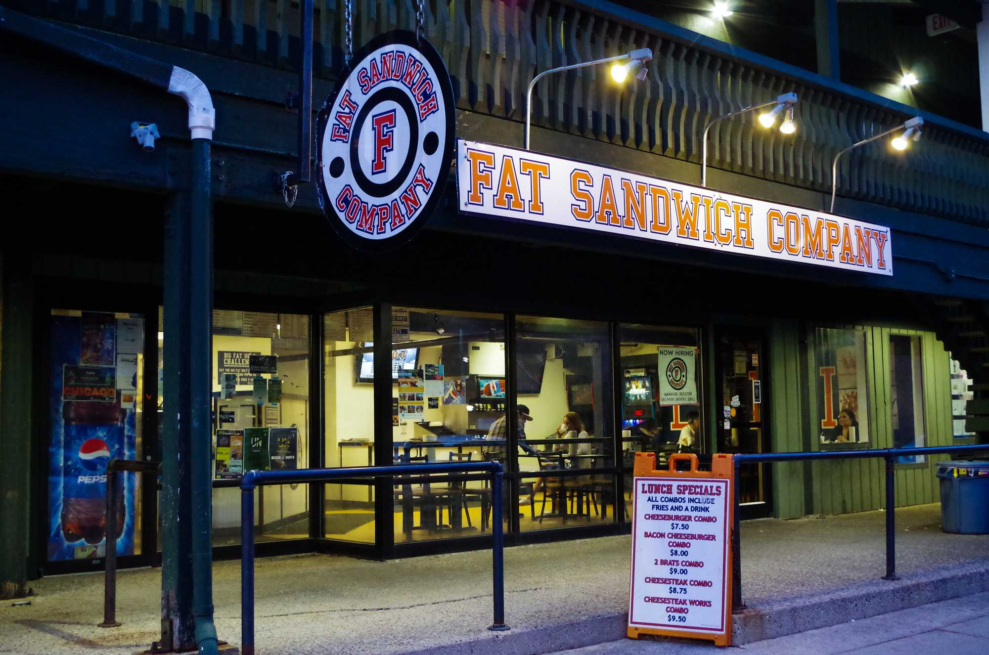 Front of Fat Sandwich on East John Street on Sunday, Feb 28, 2016.