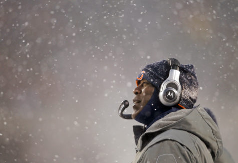 Lovie Smith, then the Chicago Bears' head coach during a game in 2010 against the New England Patriots. Illinois athletic director Josh Whitman announced Monday via Twitter that Smith has been picked to be the Illini's next head coach. (Scott Strazzante/Chicago Tribune/MCT)