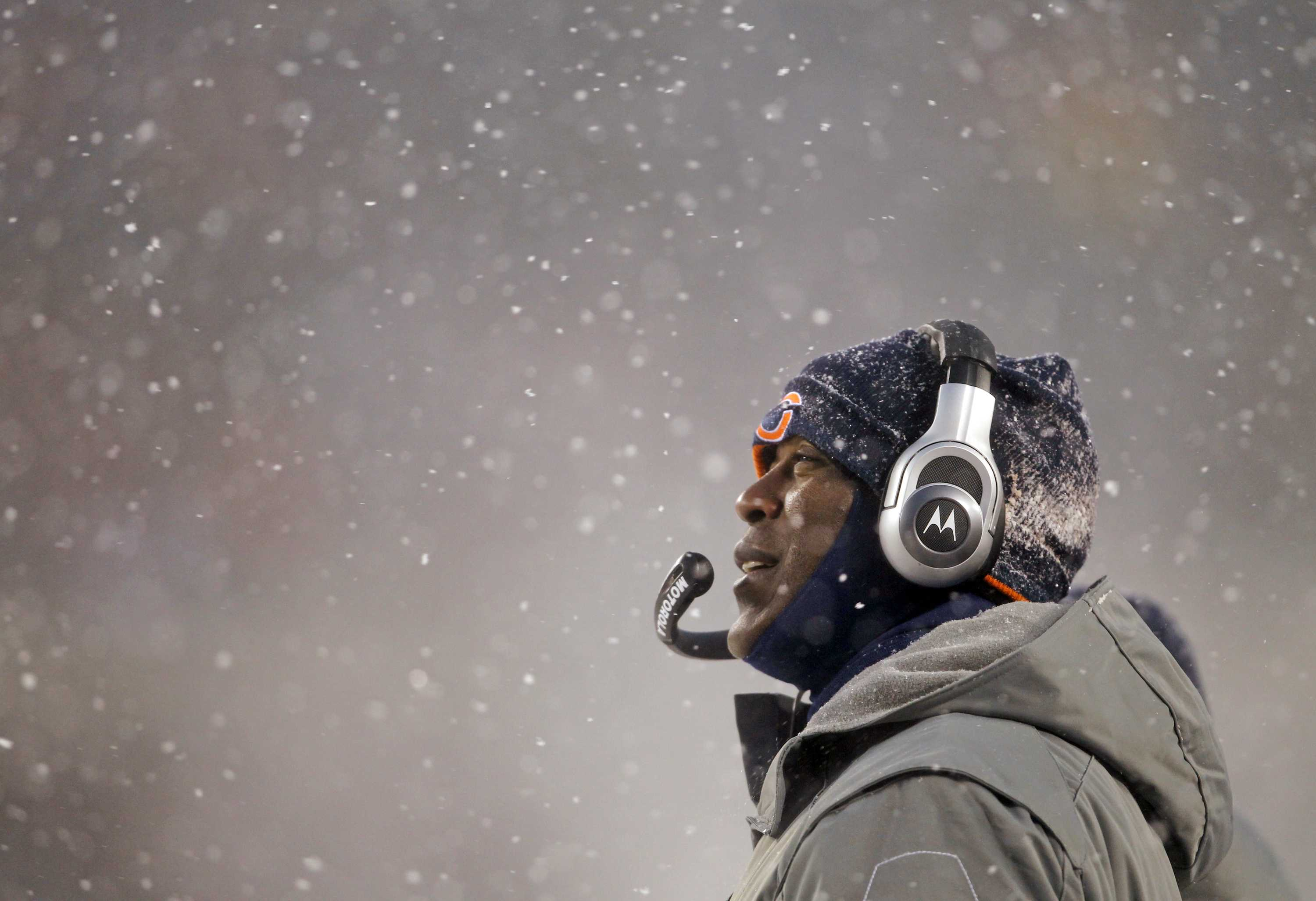 Lovie Smith, then the Chicago Bears' head coach during a game in 2010 against the New England Patriots. Illinois athletic director Josh Whitman announced Monday via Twitter that Smith has been picked to be the Illini's next head coach.(Scott Strazzante/Chicago Tribune/MCT)