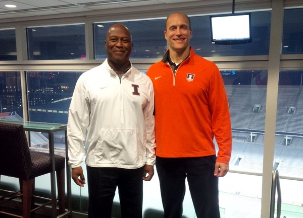 Athletic Director Josh Whitman posted this photo on Twitter Monday morning, introducing Lovie Smith as the next football head coach.