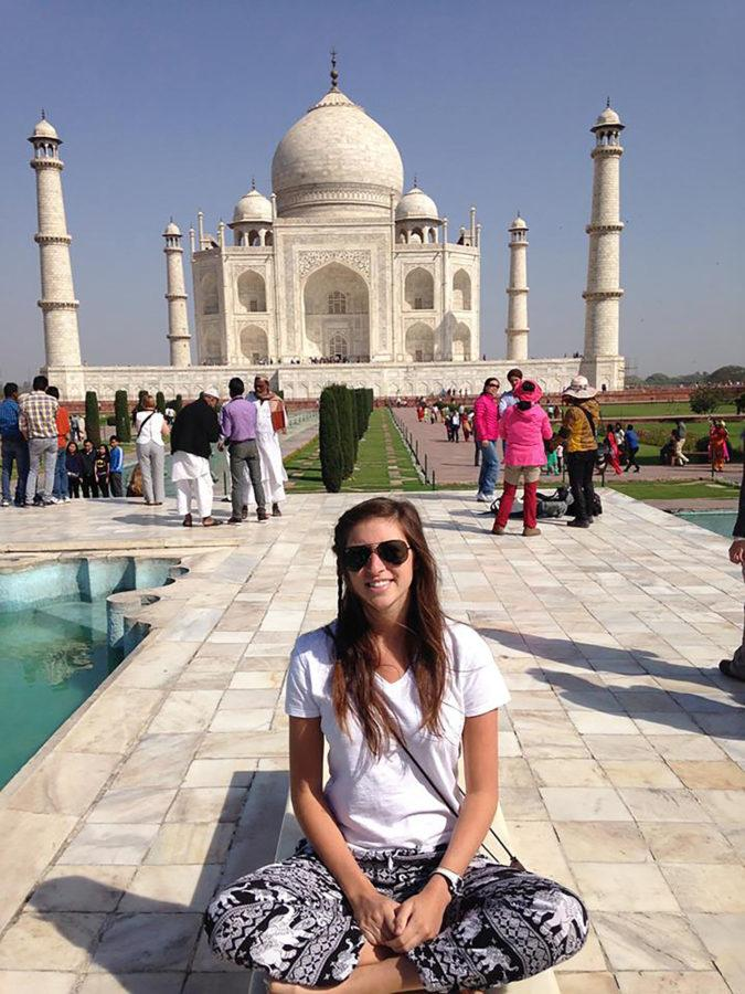 UIUC+student+Ashley+Braver+visits+the+Taj+Mahal+in+Agra%2C+India.+This+was+one+of+the+11+countries+she+visited+during+her+%E2%80%9CSemester+at+Sea%E2%80%9D+study+abroad+trip.