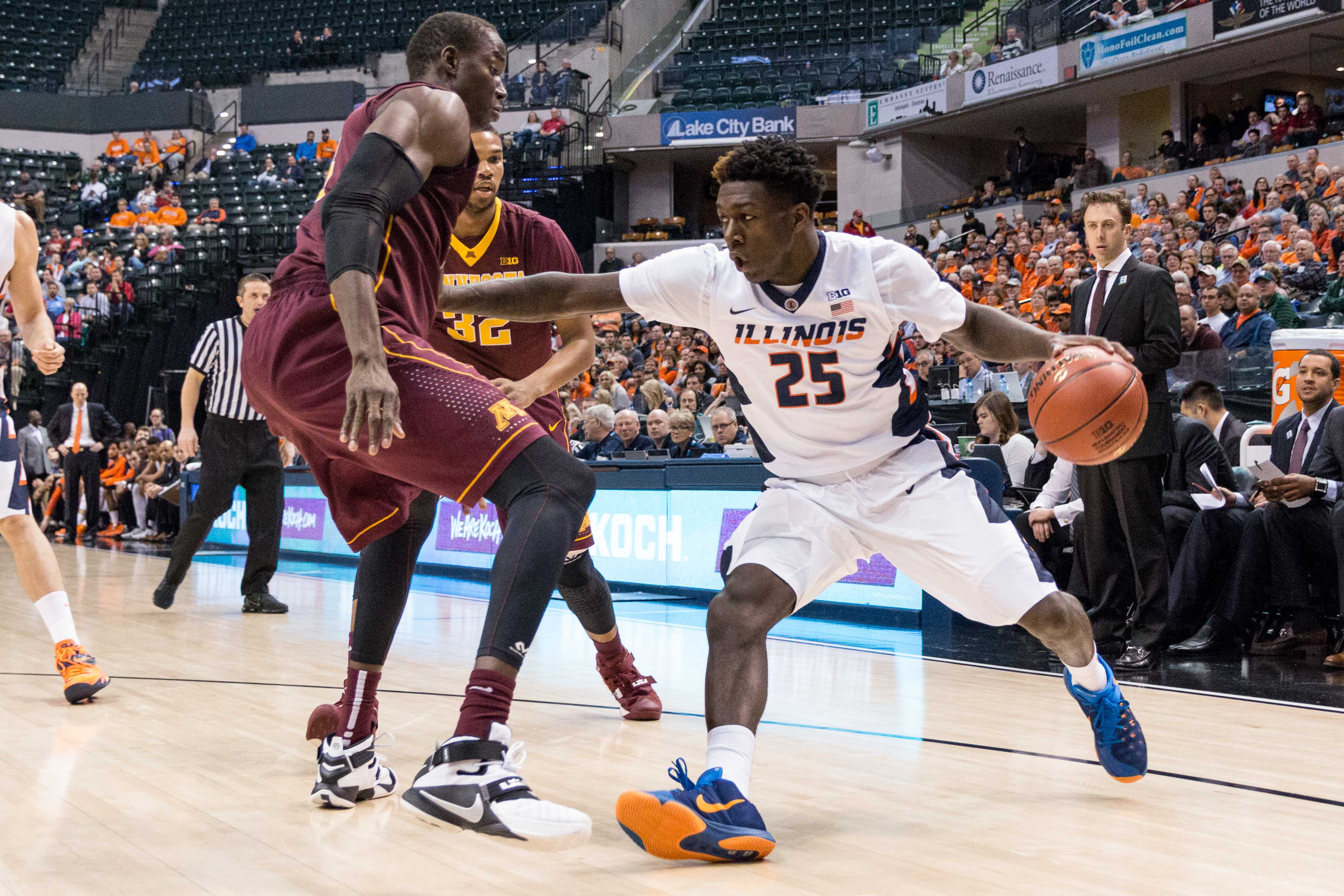 Kendrick Nunn and the Illini got off to a good start in the Big Ten Tournament, beating Minnesota 85-52 in Wednesday's game.