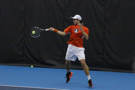 Illinois men's tennis team has international flavor