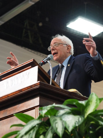 Presidential candidate Bernie Sanders at the ARC on March 12, 2016. Photo by Lily Katz