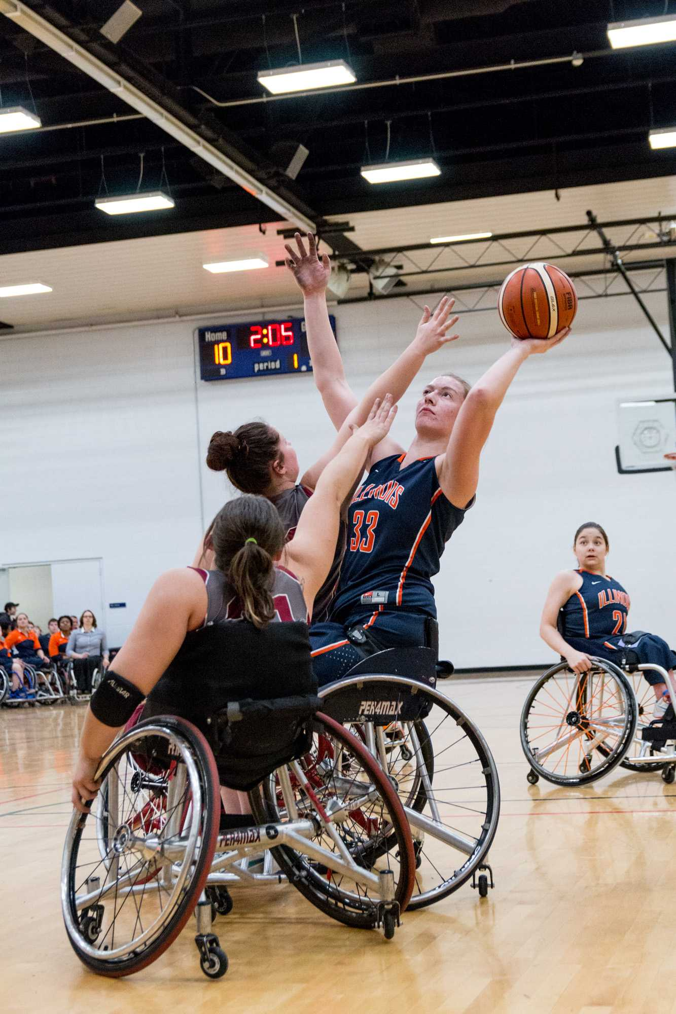 Illinois' Kendra Zeman takes a shot during the game against Alabama at the Activities and Recreation Center on February 12. The Illini won 56-47.
