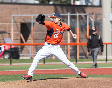 Doug Hayes tosses one-hitter, Illinois baseball takes game one of doubleheader