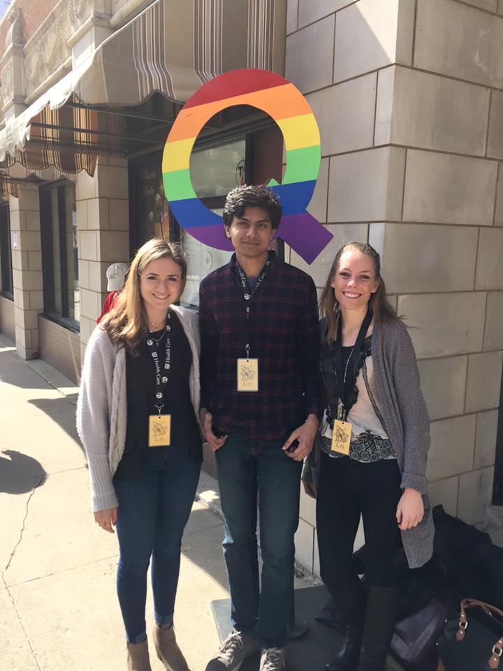 The 2015 Ebert fellows Shalayne Pulia, Ashish Valentine and Riane Lenzer-White at the True/False Documentary Film festival in Columbia, Missouri. The festival was held in March.