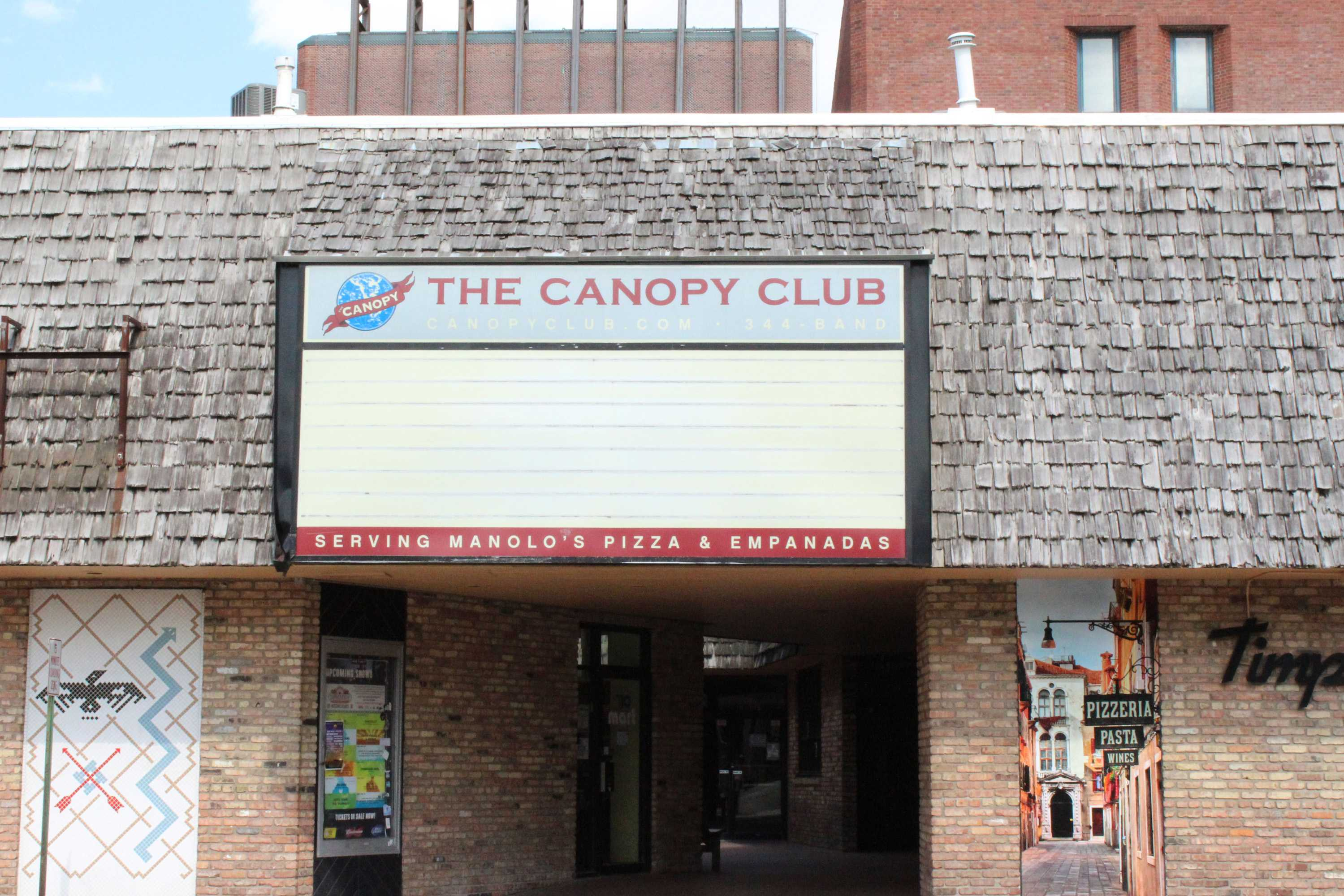 The sign in front of the Canopy Club located on Goodwin Ave. in the University of Illinois at Urbana- Champaign on Sunday, May 23, 2016.