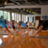 The BeamWork class, led by instructor Sara, works on strength of mind and body.