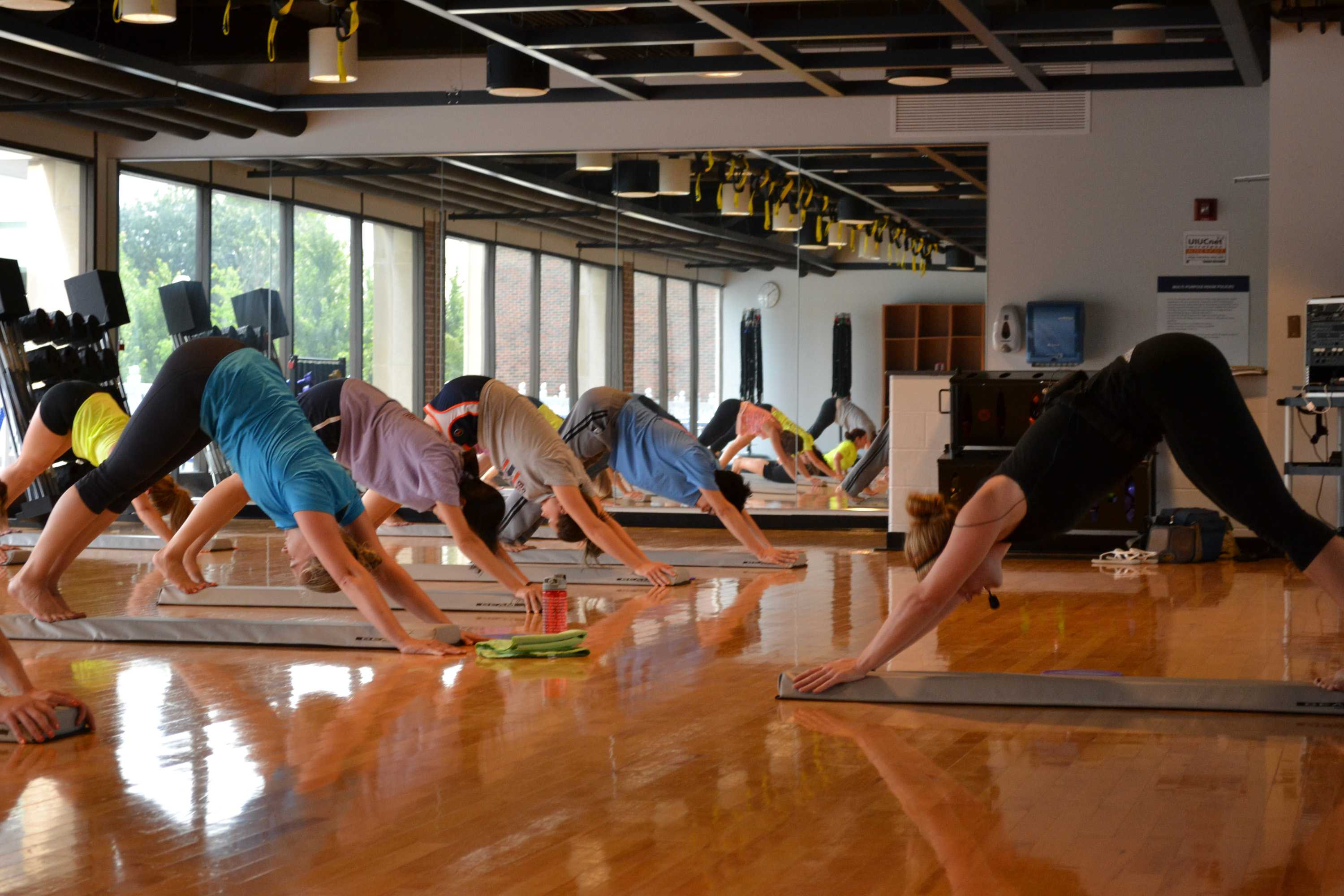 The BeamWork class, led by instructor Sara, works on strength of mind and body at the ARC.