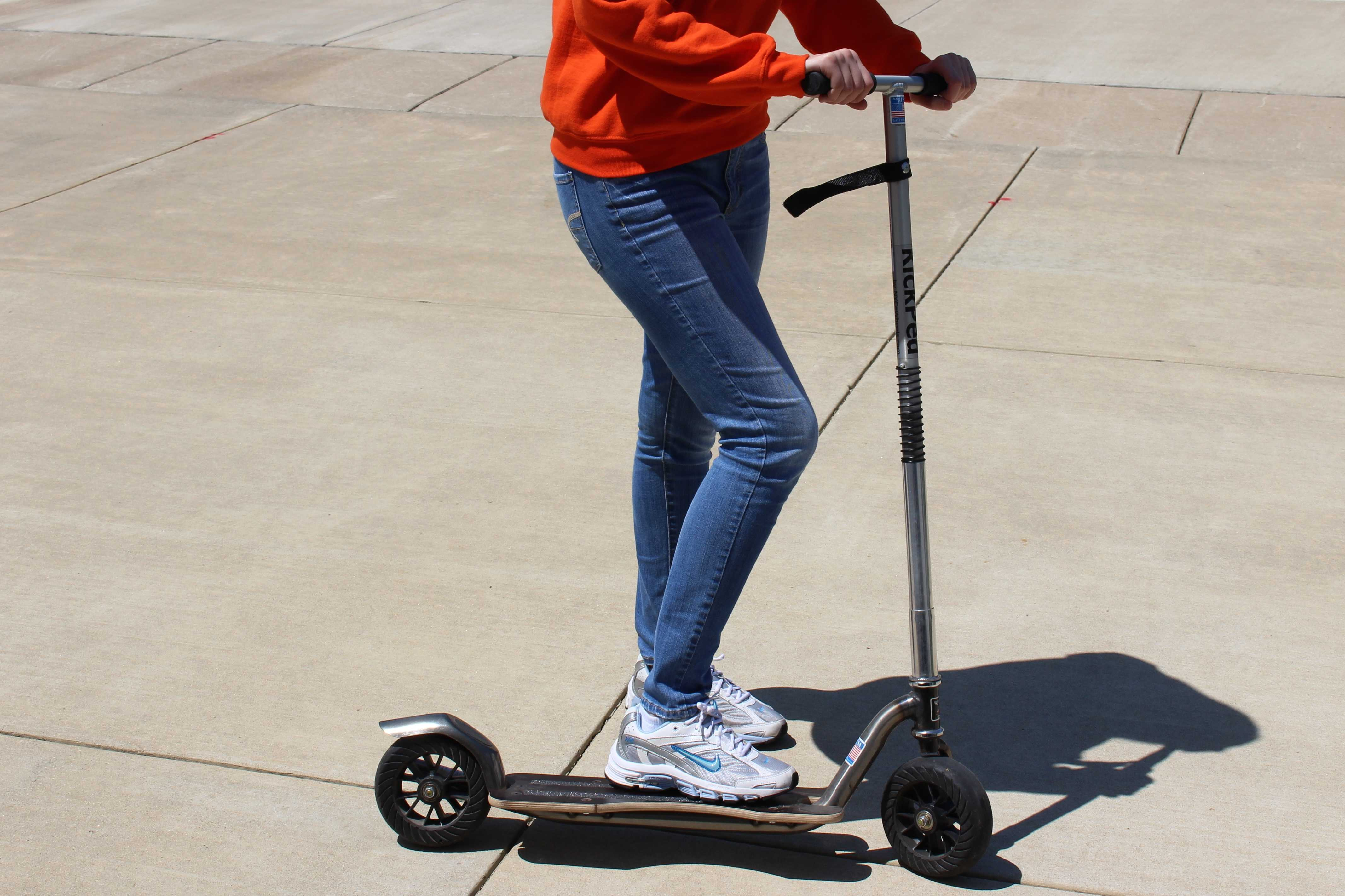 A scooter is one of the many ways students can get around campus.
