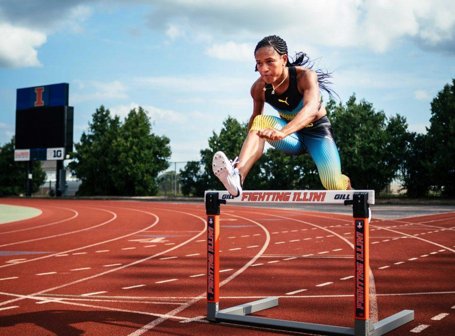 University of Illinois athlete Pedrya Seymour placed 6th in 100m hurdles at the Rio Olympics with a time of 12.76.