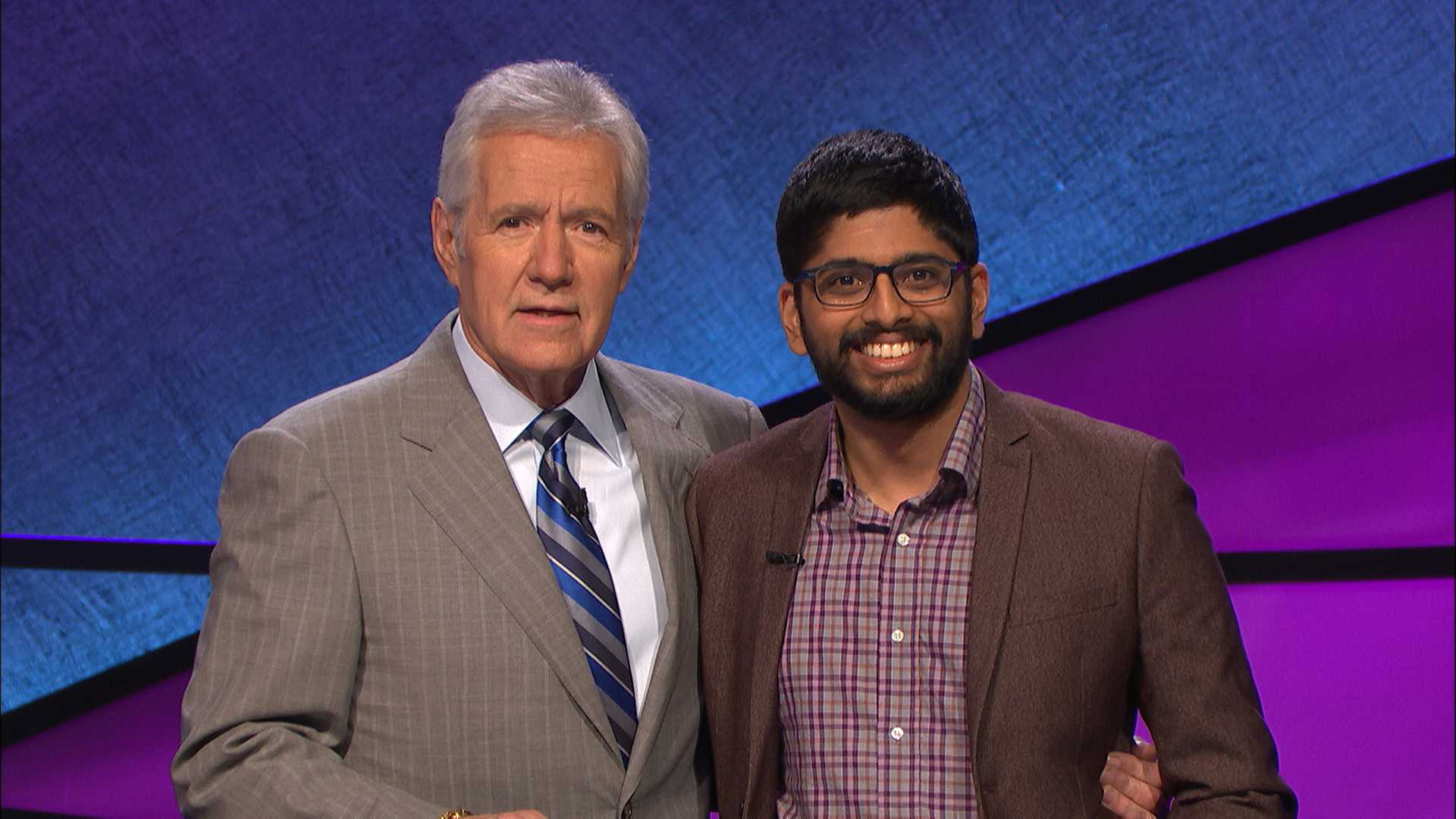 Pranjal Vachaspati appears with Alex Trebek in an episode that ran July 26, 2016.