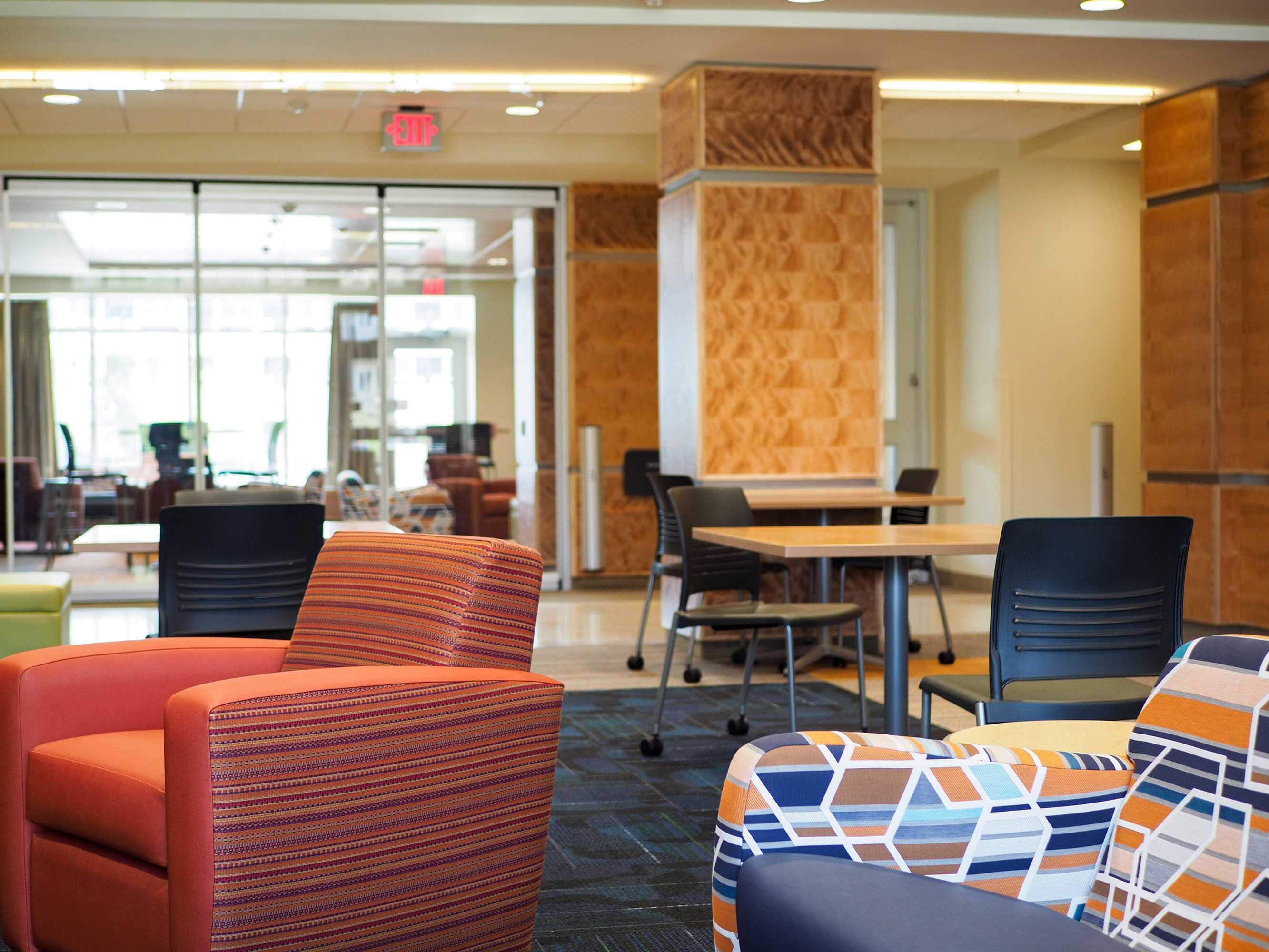The modern interior of UIUC's new dorm, Wassaja Hall, in Champaign, IL. August 17, 2016.