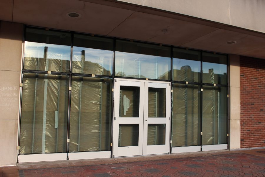 The UGL doors are currently under construction. Pictured on Monday, August 29, 2016.