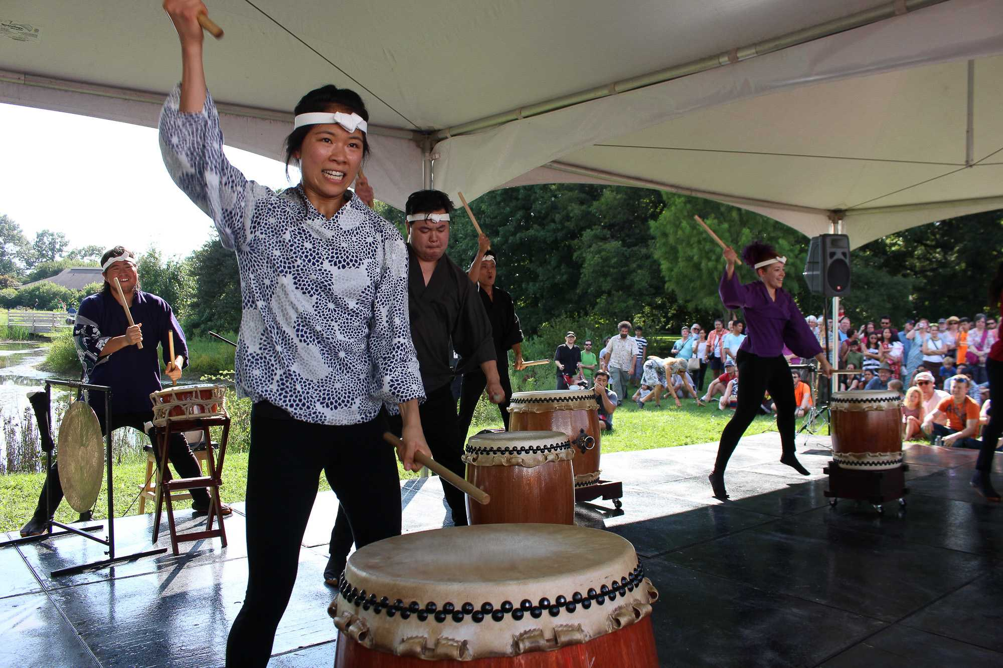 Chicago group Ho Etsu Taiko performs at Matsuri Festival at the Japan House last year. This year, the festival is occurring on Aug. 27 from 3 to 8 p.m.