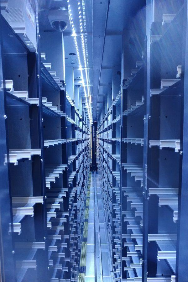 The interior of one the Blue Waters super computers on July 12.