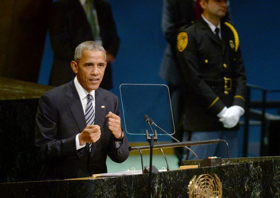 U.S. President Barack Obama delivers his address on Tuesday, Sept. 20, 2016 during the 71st session of the United Nations General Assembly at United Nations headquarters in New York City, N.Y.