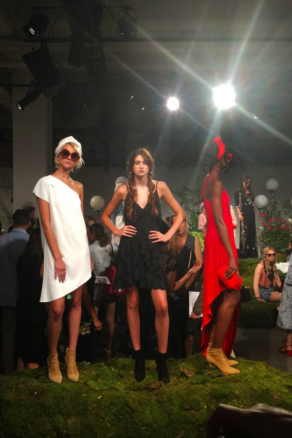 Models+stand+in+designer+clothing+for+the+AO+Spring+2017+Presentation+during+2016+New+York+Fashion+Week.