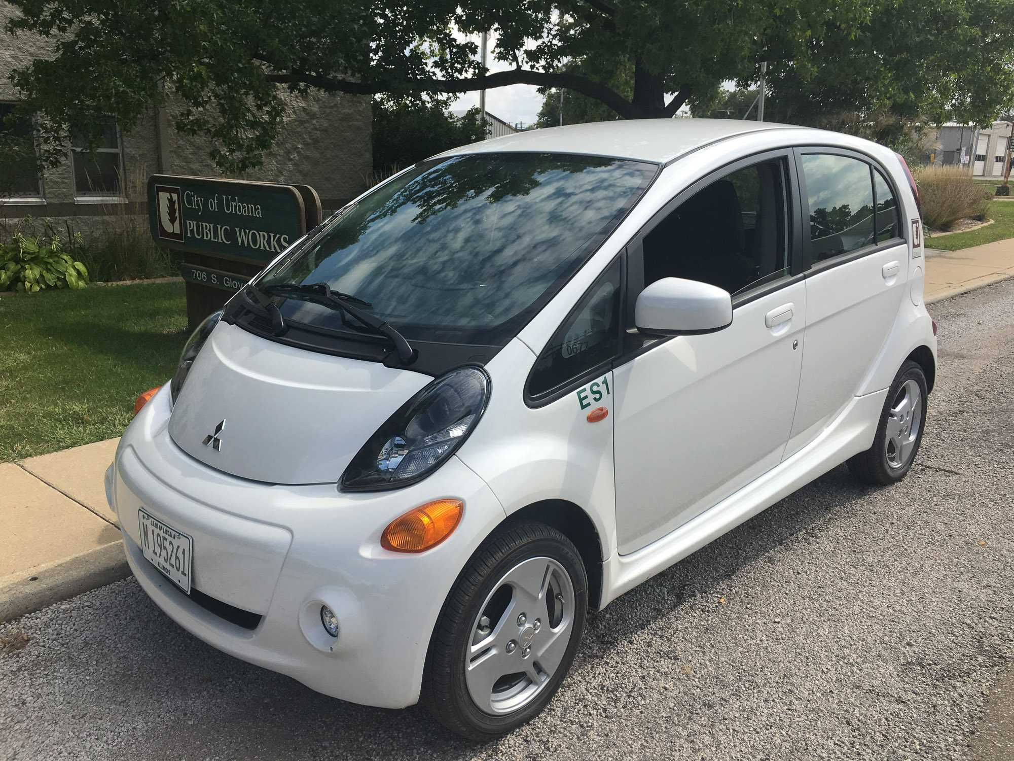It's just been one month since the City of Urbana purchased its first electric vehicle (EV); a 2016 Mitsubishi i-MiEV, for use in the City's environmental sustainability division.