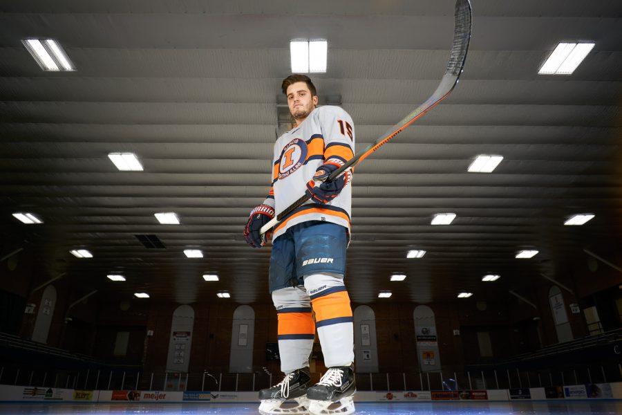 Illini of the Week, hockey player Eric Cruickshank.