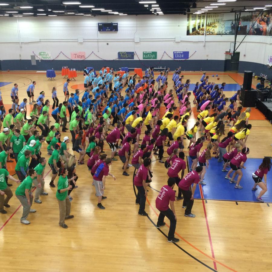 Students participate in the Illinithon Dance Marathon.