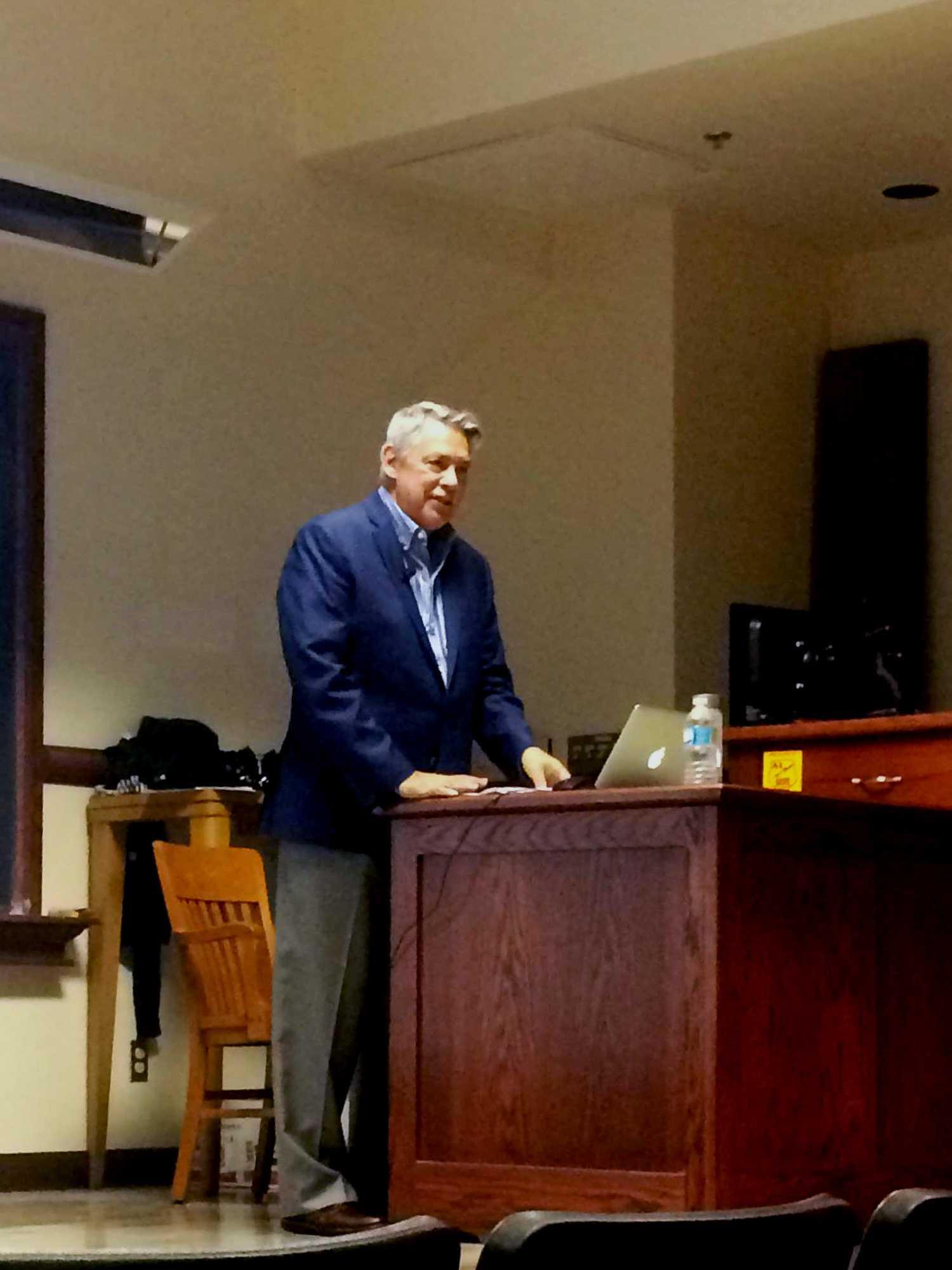 Juan Gonzales speaks at the University of Illinois on Monday, October 24, 2016.