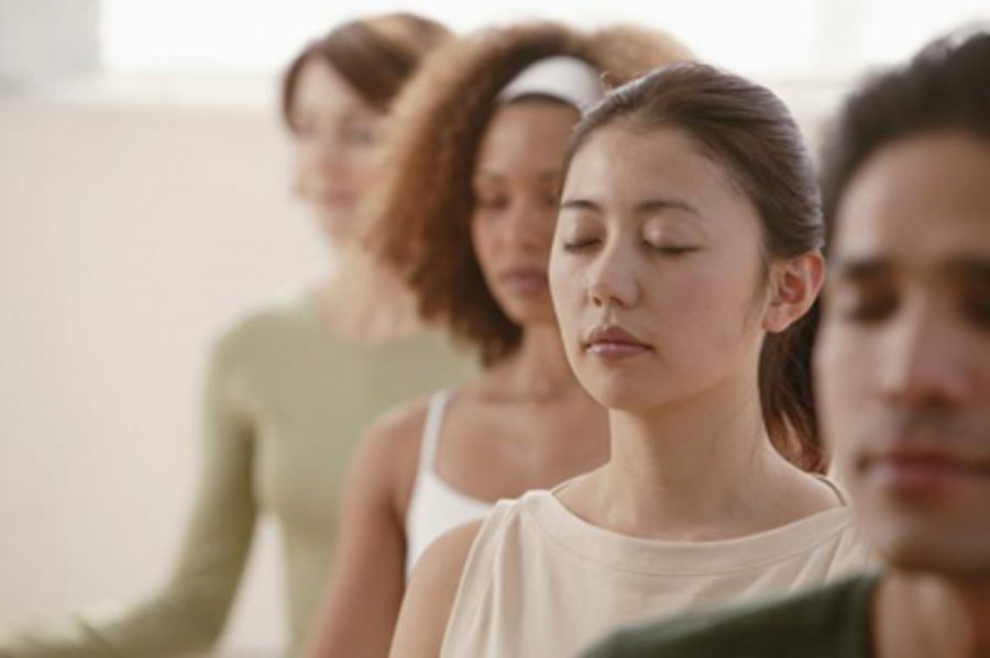 People meditate to find peace and center themselves.