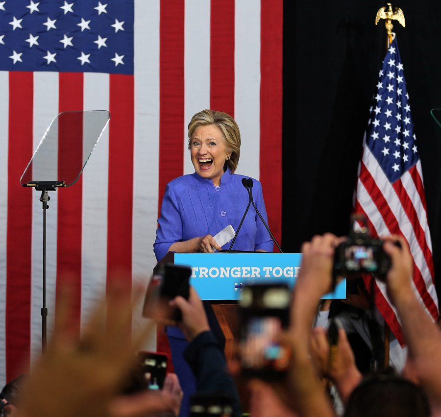 Democratic+presidential+nominee+Hillary+Clinton+holds+a+rally+on+Sunday+at+The+Manor+Complex+in+Wilton+Manors%2C+Fla.+