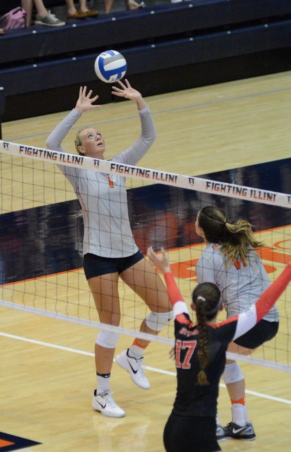 Poulter+continues+stellar+play+for+Illinois+volleyball