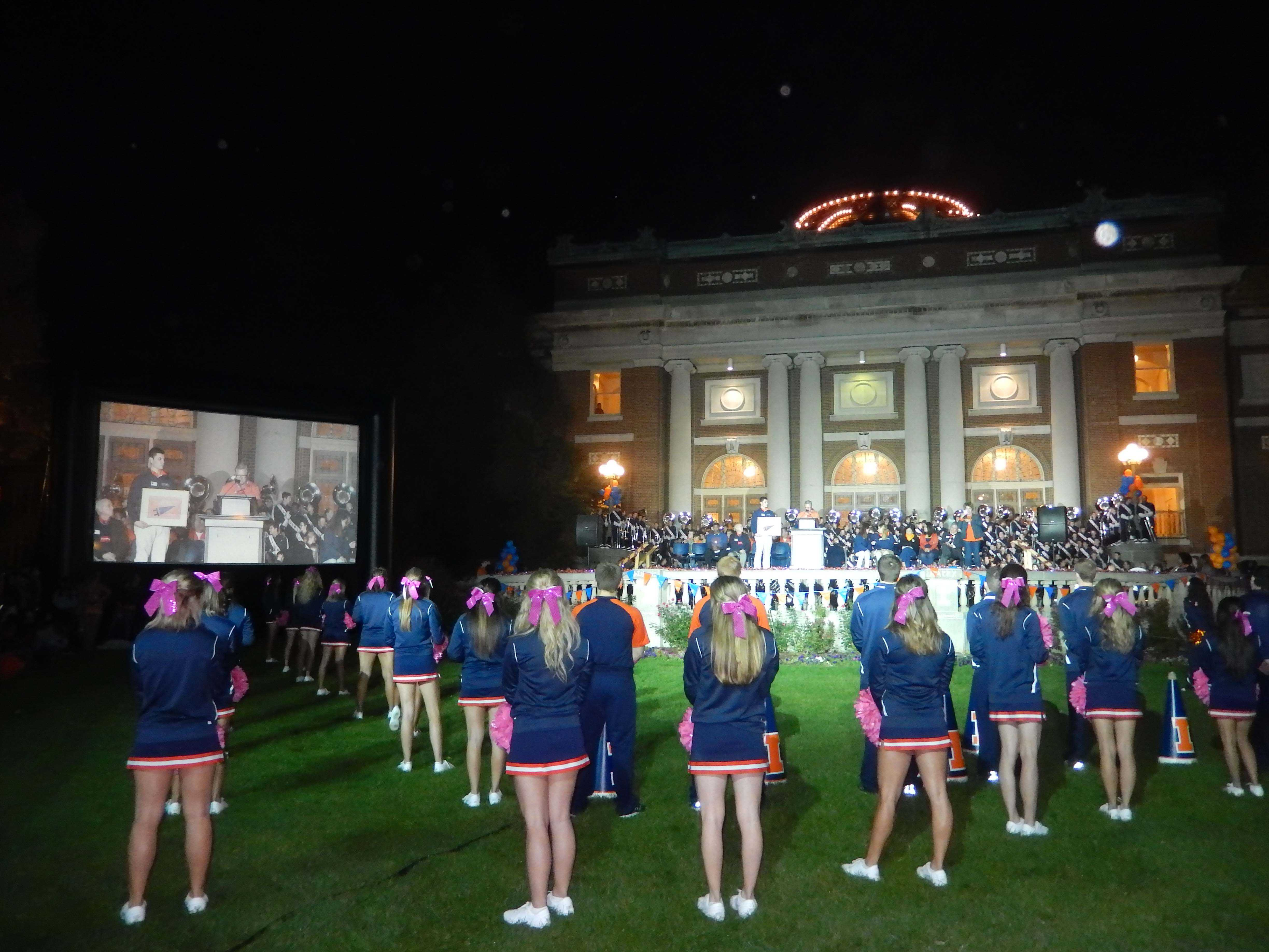 UIUC pep rally from last year's Homecoming.