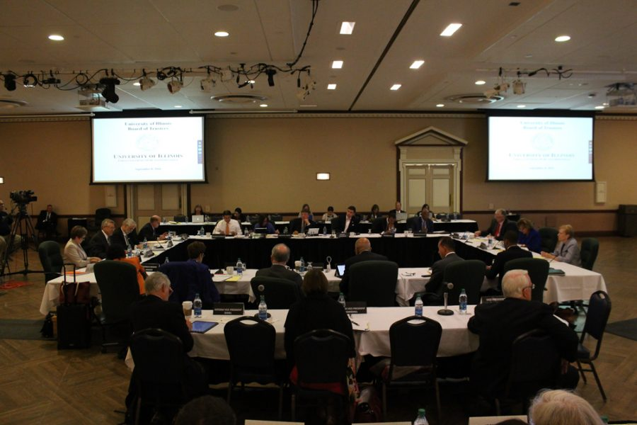 The University of Illinois Board of Trustees holds its meeting at the Illini Union on Thursday, Sept. 8, 2016.