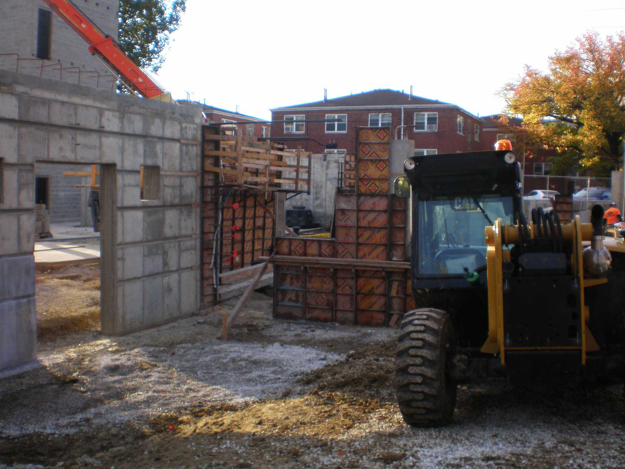 The new Lamda Chi house construction site.