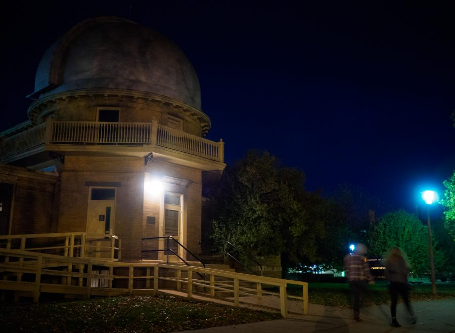 The observatory is located next to the Quad at the University of Illinois at Urbana-Champaign.
