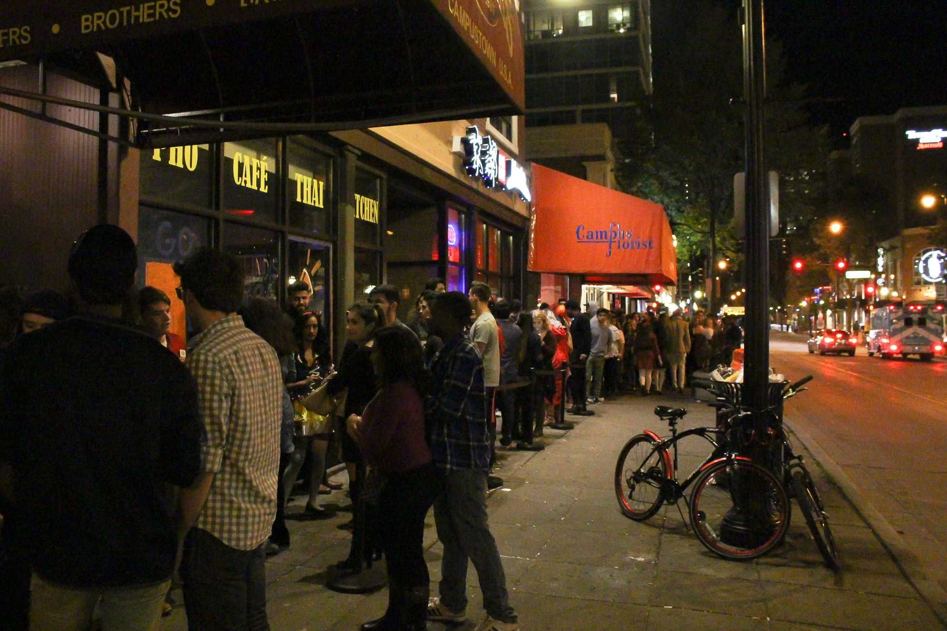 Themed trivia nights hosted at Brothers Bar and Grill every month are a huge hit. Students are typically willing to wait in lines half a block long to get into the bar on these nights, which University alumnus Michael Ponte began.