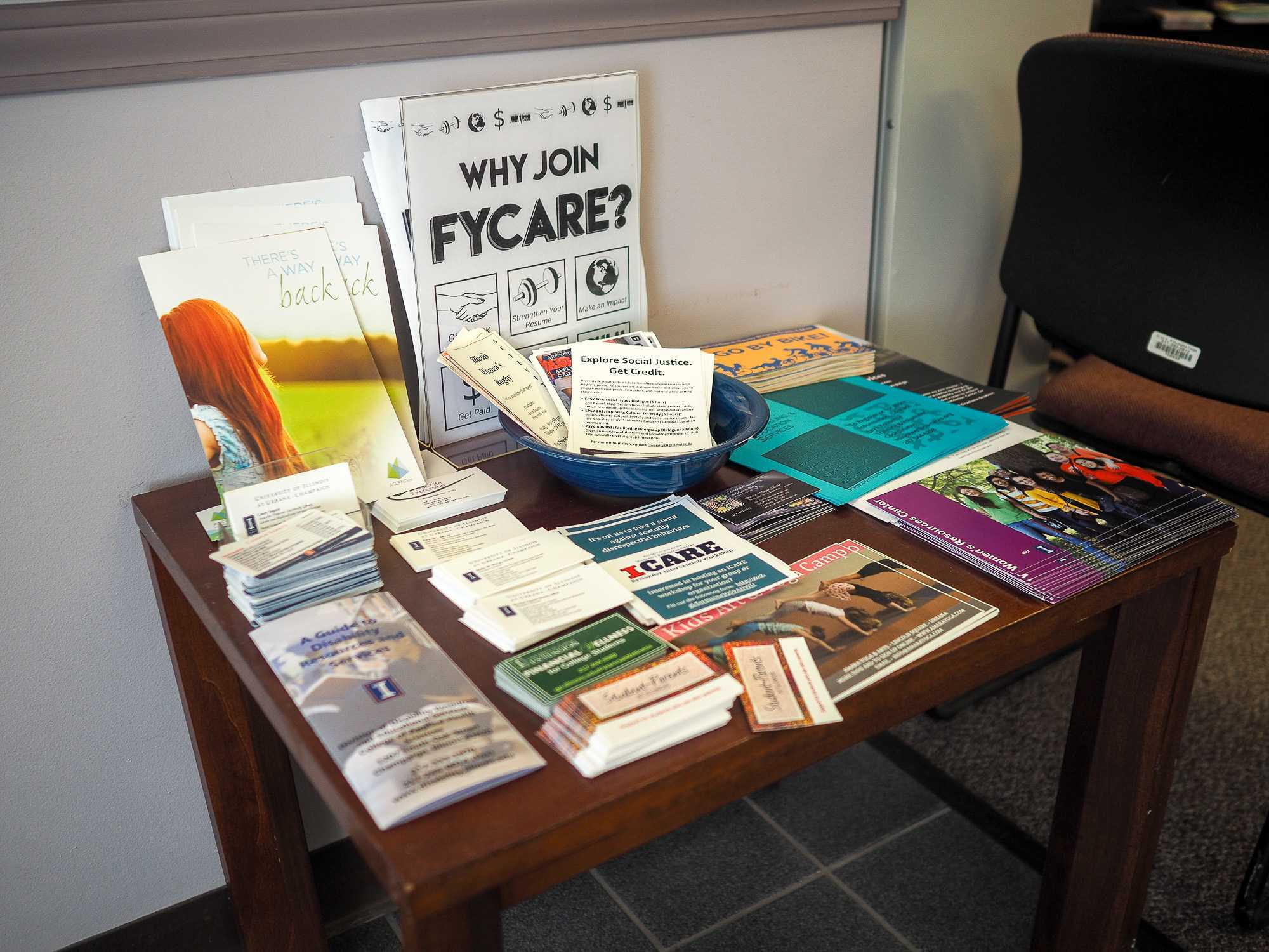 The Women's Resource Center, which sponsors FYCARE, provides a plethora of resources for students.