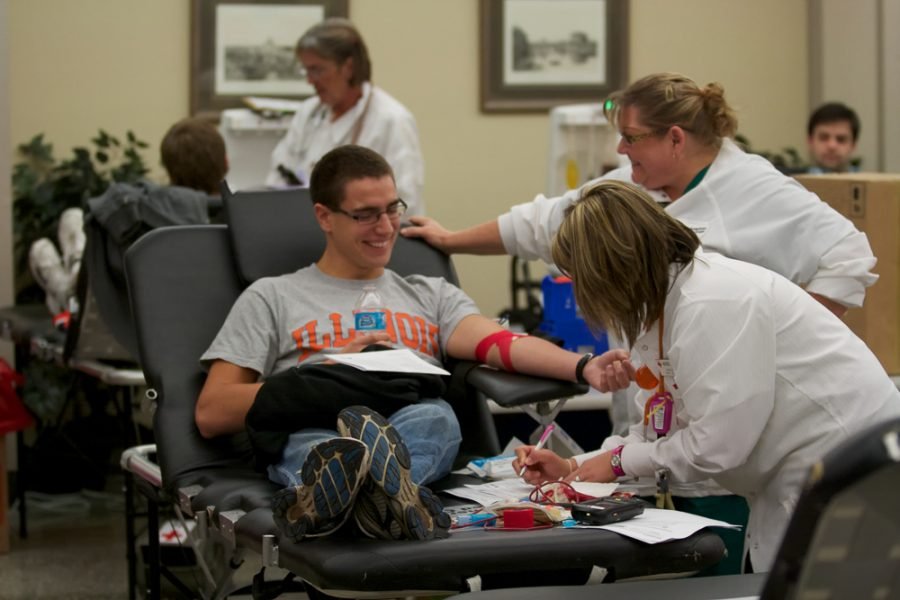 Blood+drive+at+Newman+Hall+from+the+American+Red+Cross.