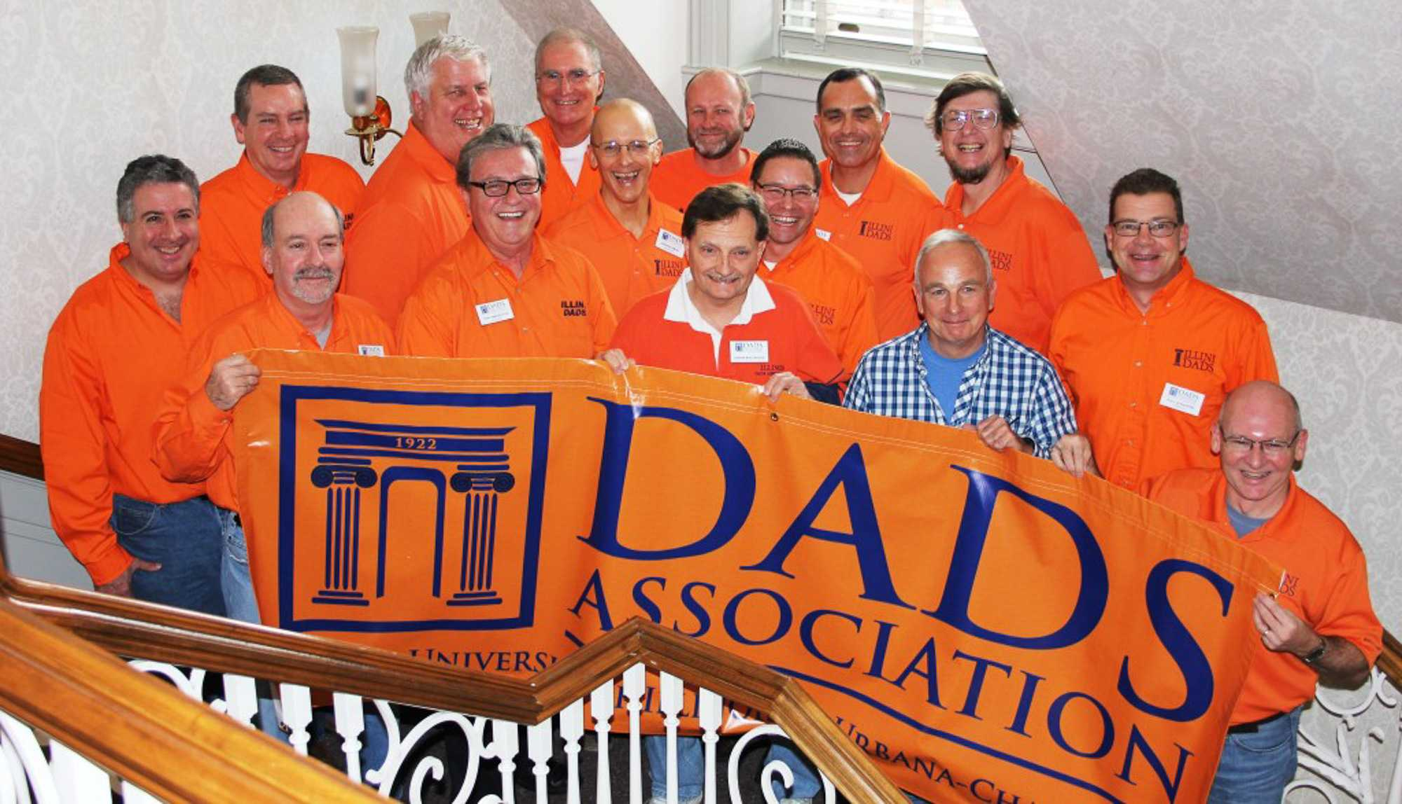 Members of the Board of Directors of the Dads Association. The Dads Association plans a majority of the events for Dads Weekend every year.
