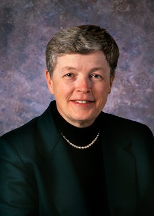 Portrait of Dr. Lou Anna Simon. Unlimited, non-transferable license is granted to Michigan State University. All rights not specifically granted in writing, including copyright,  remain the exclusive property of Kim Kauffman. Kauffman Photography 517 321-6266