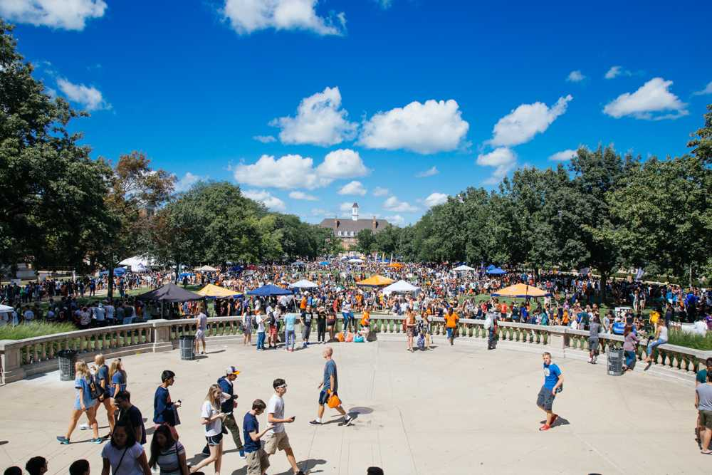 Students coming out to enjoy Quad Day on Aug. 21.