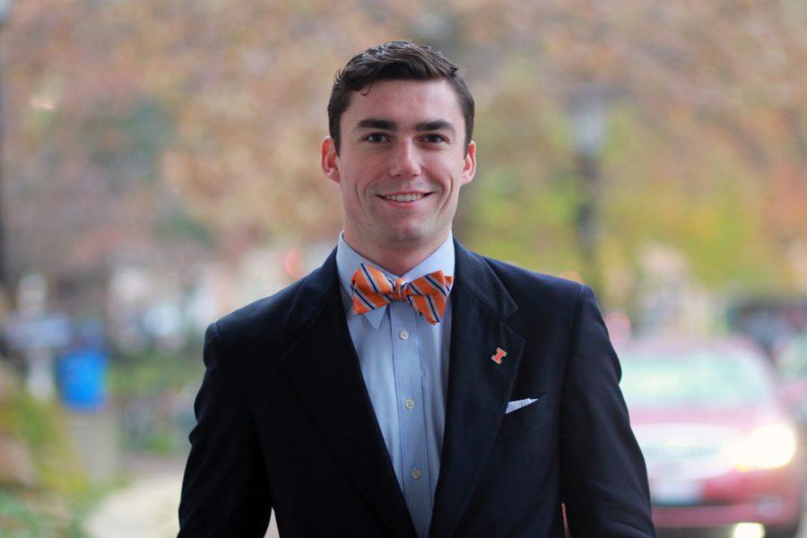 Collin Schumock, UIUC student trustee.