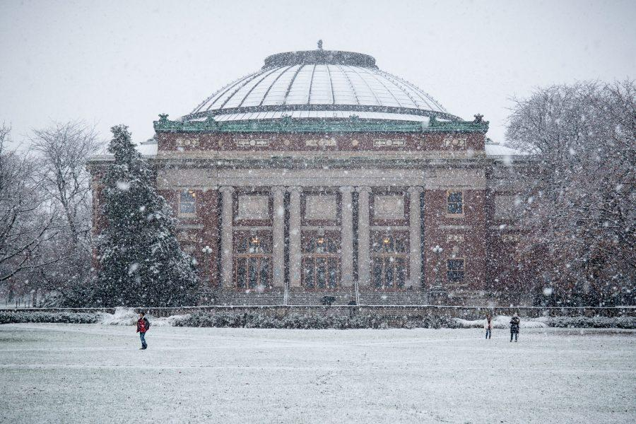 A+photo+of+Foellinger+Auditorium+in+the+snow+on+Dec.+4.+University%E2%80%99s+Winter+Session+will+be+effective+in+the+2017-2018+academic+year.