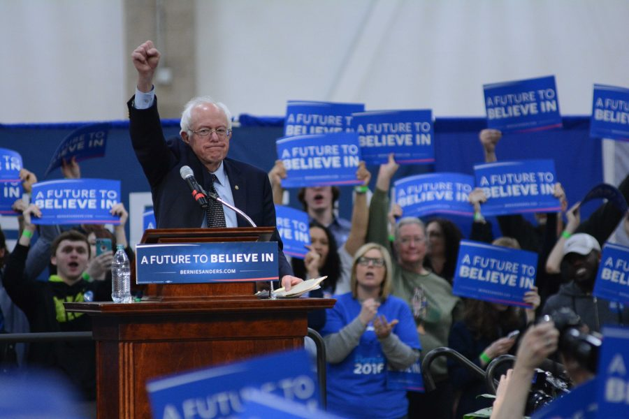 Senator Bernie Sanders hosts a rally at the ARC last March during his run for office.